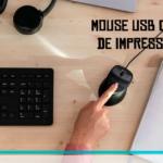 Mouse USB com leitor de impressão digital