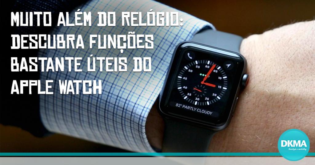 funções úteis do Apple Watch